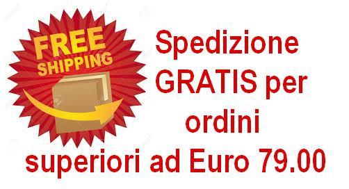 spedizione gratuita per ordini da 79 euro